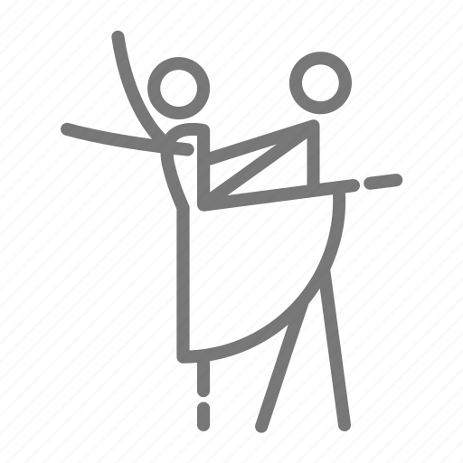 arabesque, ballerina, ballet, dance, partners, third icon