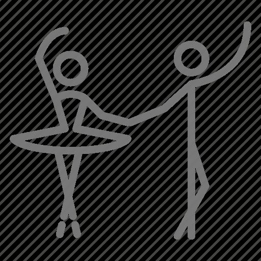 ballerina, ballet, bow, croise, dance, devant, partners icon