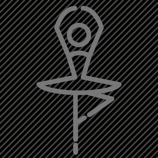 Ballerina, ballet, dance, dancer, position, spin, turn icon - Download on Iconfinder