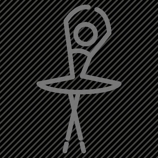 ballerina, ballet, dance, dancer, fifth, position, tutu icon