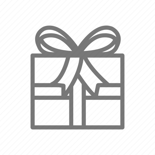 bow, gift, present, wrapping icon