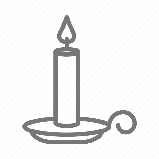 candle, flame, holder icon