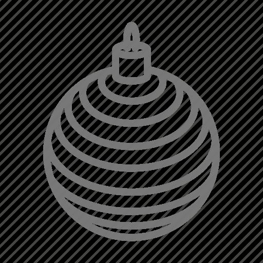 ball, christmas, decoration, holiday, ornament icon