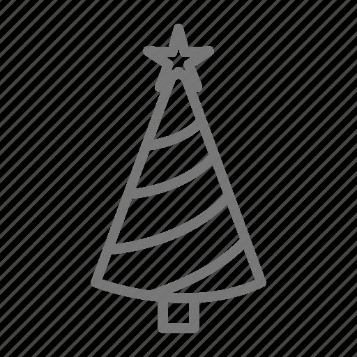 christmas, holiday, star, tree, xmas icon