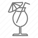 cocktail, cruise, frozen, umbrella icon