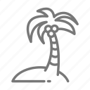 cruise, island, palm, palm tree icon