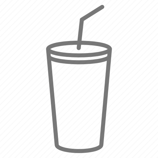 cup, drink, restaurant, soda, soft drink, straw, takeout icon