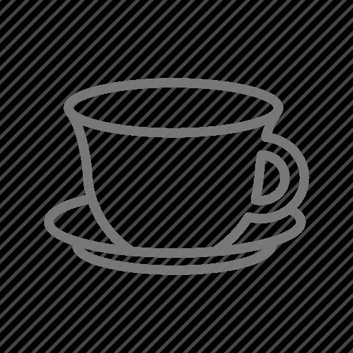 coffee, cup, mug, saucer, tea icon