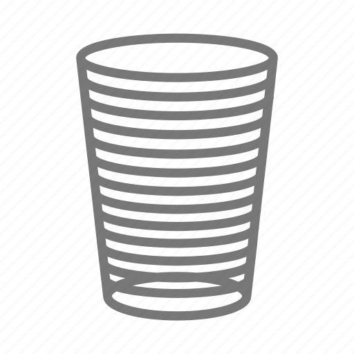 beverage, cup, drink, glass, lines, tumbler, water icon