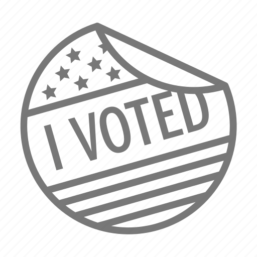 ballot, democracy, poll, sticker, vote icon