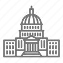 building, capitol, congress, democracy icon