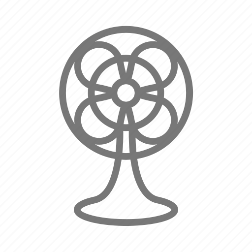 blow, cool, fan, oscillating, tabletop, weather, wind icon