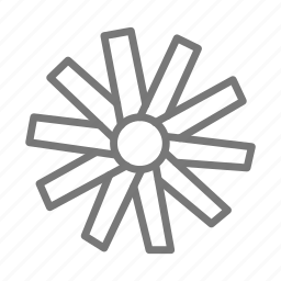 air, blow, ceiling, cool, fan, rotating, wind icon