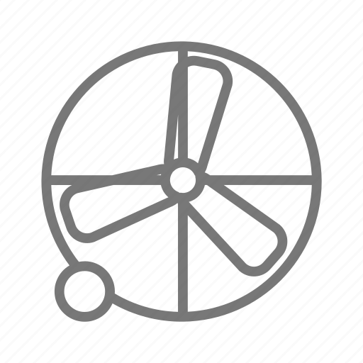 construction, cool, fan, industrial, moveable, sport, wind icon