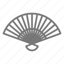 breeze, collapsible, cool, fan, handheld, wave icon