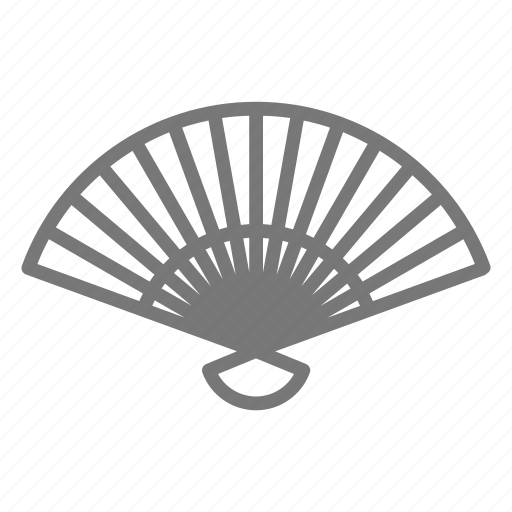 air, breeze, collapsible, cool, fan, handheld, wave icon