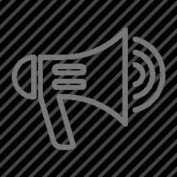 fire, firemen, loud, megaphone, safety, speaker icon
