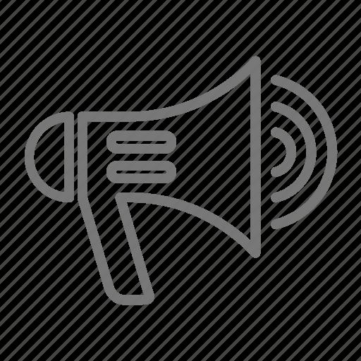 fire, loud, megaphone, safety, speaker icon