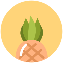 food, pineapple, summer, tropical, vacation icon