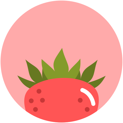 food, nutrition, strawberry, summer icon