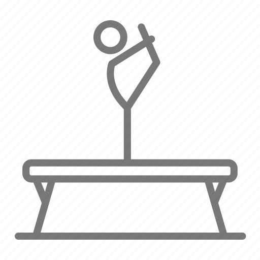 balance, beam, gymnast, gymnastics, one leg, routine, turn icon