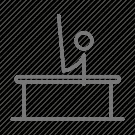 arm, balance, gymnast, gymnastics, men, parallel bars icon