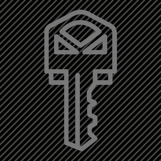 house, key, lock, open, security, teeth, unlock icon