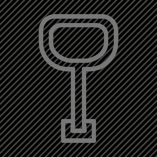 key, lock, locked, open, screw, secure, turn icon