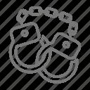 handcuffs, magic, magician, trick icon