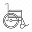 broken leg, hospital, medical, nurse, push, surgery, wheelchair icon