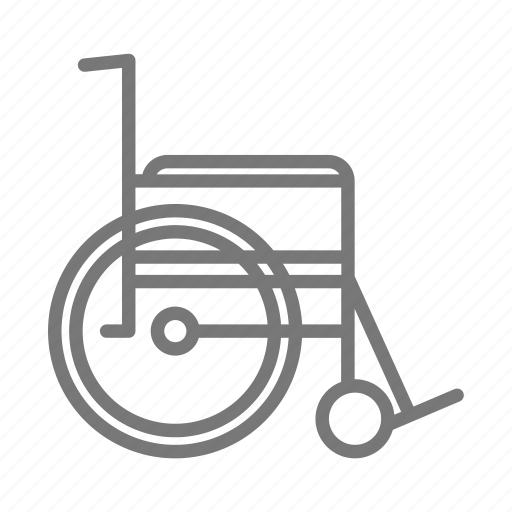 broken leg, hospital, surgery, wheelchair icon