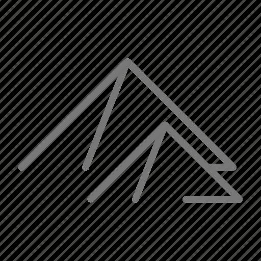 Mountain, peak, pyramid, travel icon - Download on Iconfinder