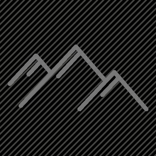 hill, landscape, mountain, peak, pyramid icon