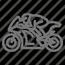 motorbike, motorcycle, racing icon