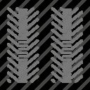 marks, racing, tire, tread icon