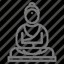 buddha, meditate, relax, statue