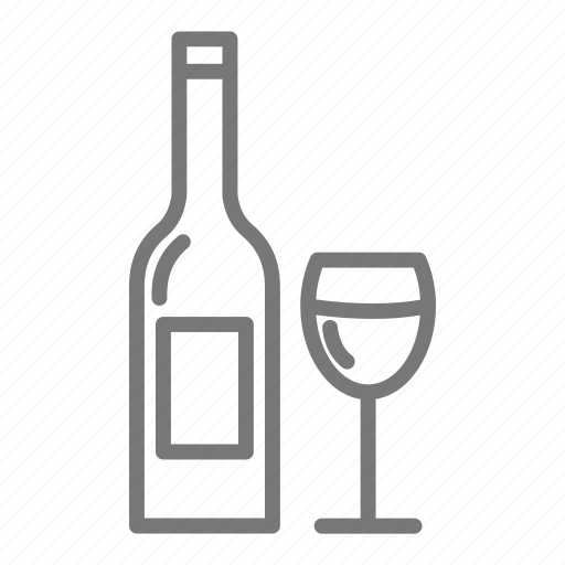 bottle, glass, relax, wine icon