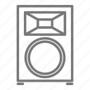 concert, equipment, music, rock, speaker, stage, tour icon