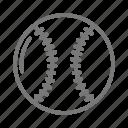 ball, baseball, bat, leather, sport, stitch, team icon