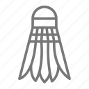 badminton, court, feather, net, racquet, shuttlecock, sport icon