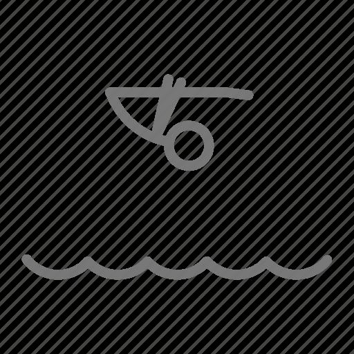compete, dive, diver, pike, pool, swim, tuck icon