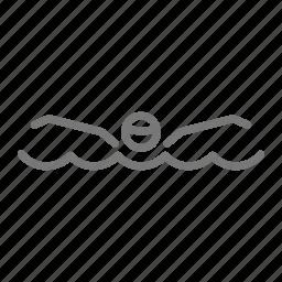 butterfly, compete, face, lane, pool, stroke, swim icon