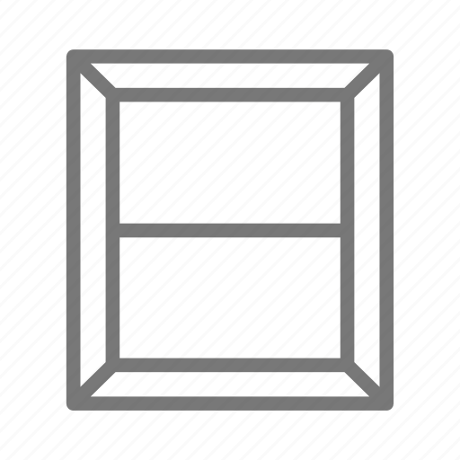 building, frame, glass, gray, home, house, window icon