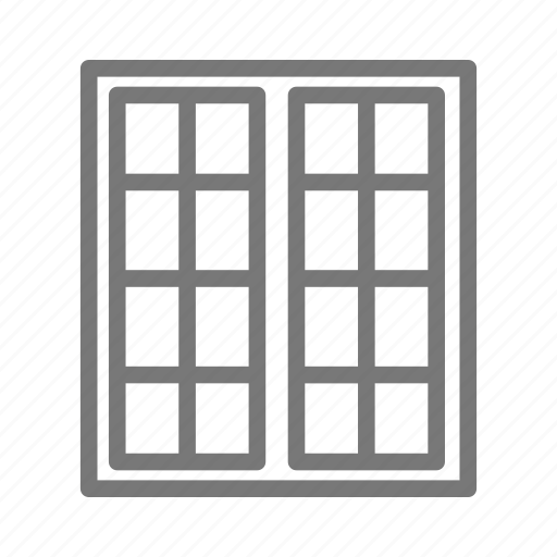architecture, double hung, frame, house, property, shutter, window icon