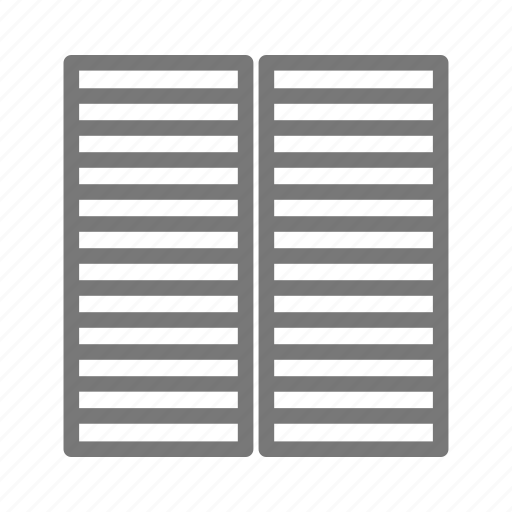 apartment, blinds, building, closed, home, shutter, window icon