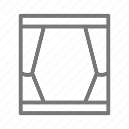 curtains, frame, glass, home, house, property, window icon