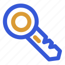 key, lock, unlock