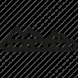 belt, conveyor, factory, machine, mining icon