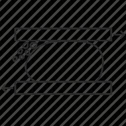 crusher, equipment, flottation, ore, splitting, technology icon