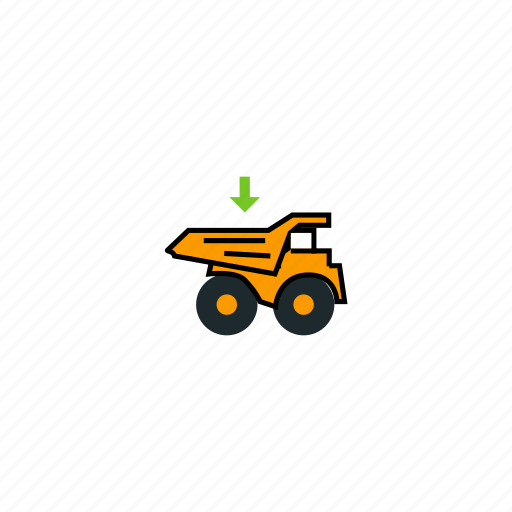 car, load to truck, load truck, loading, loading truck, mining, truck icon
